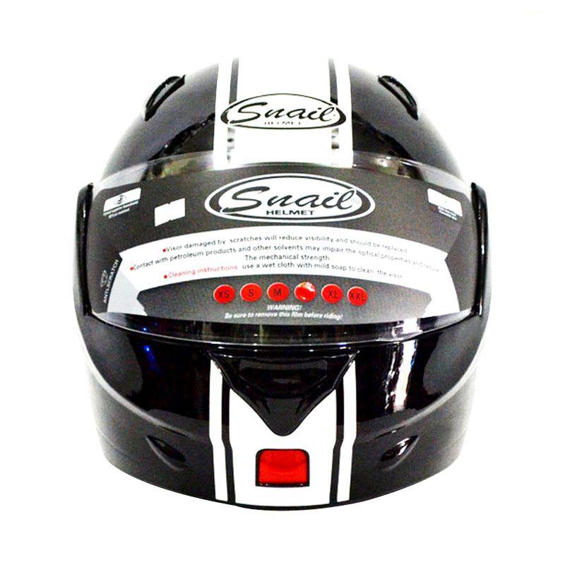 Snail Modular FF991-HTMLISTPTH Hitam Putih Helm Full Face