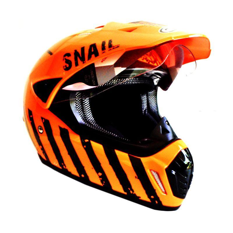 Snail MX-310 Limited Edition Orange Helm Motocross