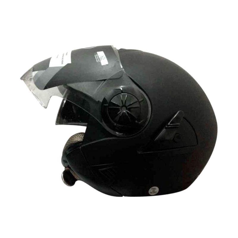 Snail Retro 622 Hitam Dope Helm Half Face