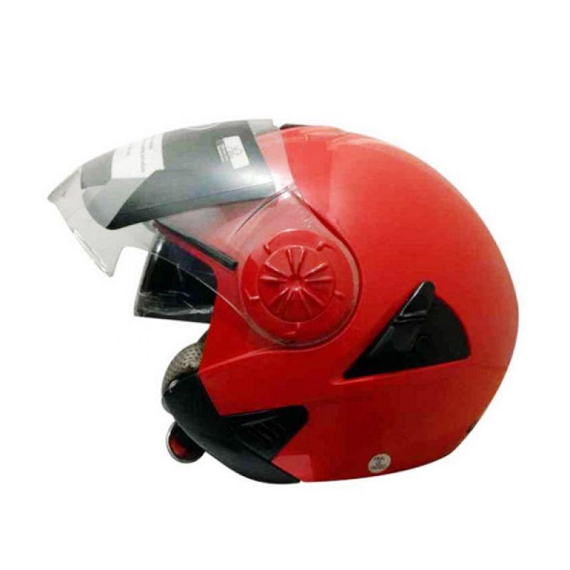 Snail Retro 622 Merah Helm Half Face