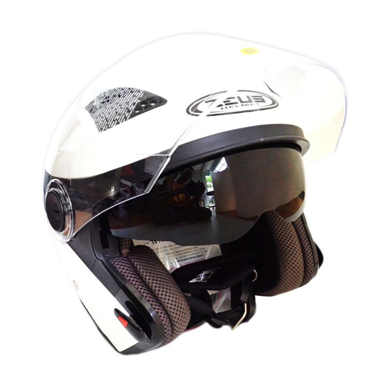 Zeus ZS-610K-PLS-PTH Polos Putih Helm Half Face