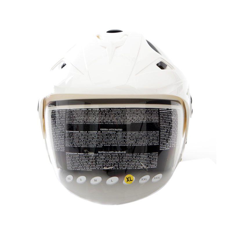 Zeus ZS612C Putih Helm Half Face