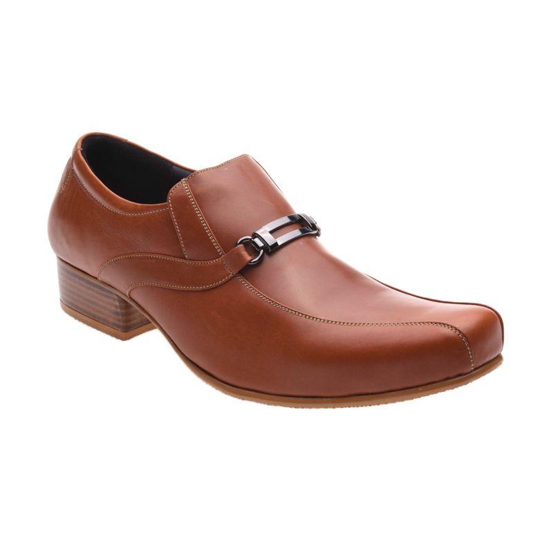Allonzo SP 009 Brown Sepatu Formal Pria