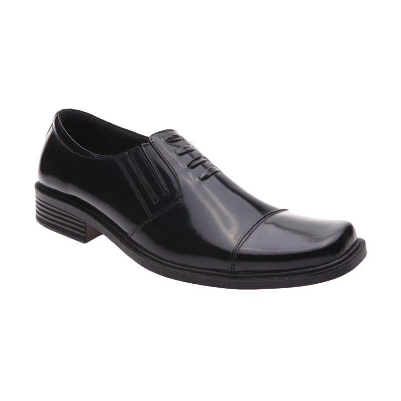 Handymen F 02 Black Sepatu Formal Pria