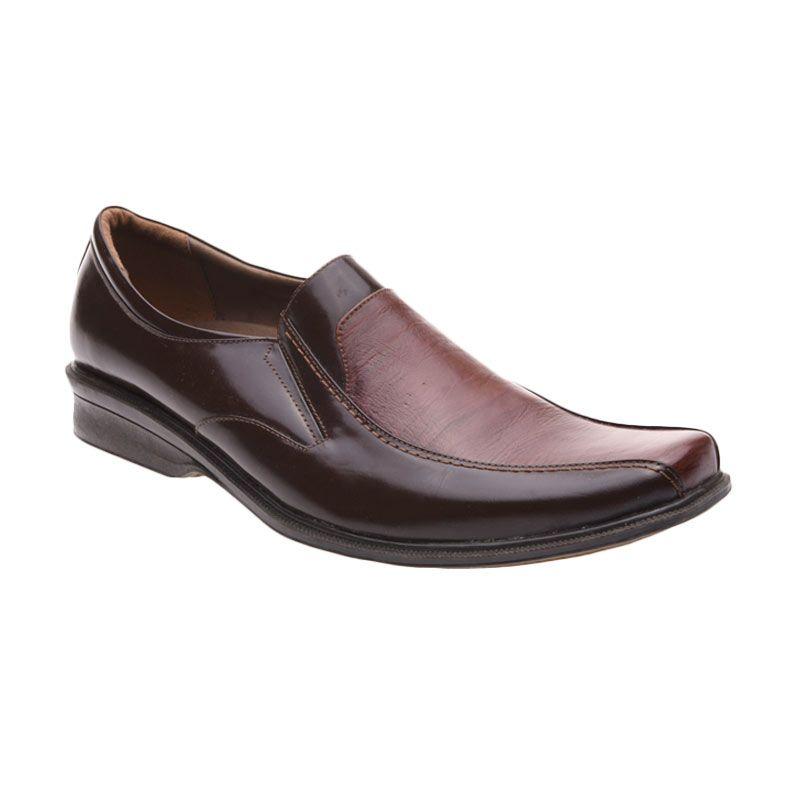 Handymen HK 809 Brown Sepatu Formal Pria