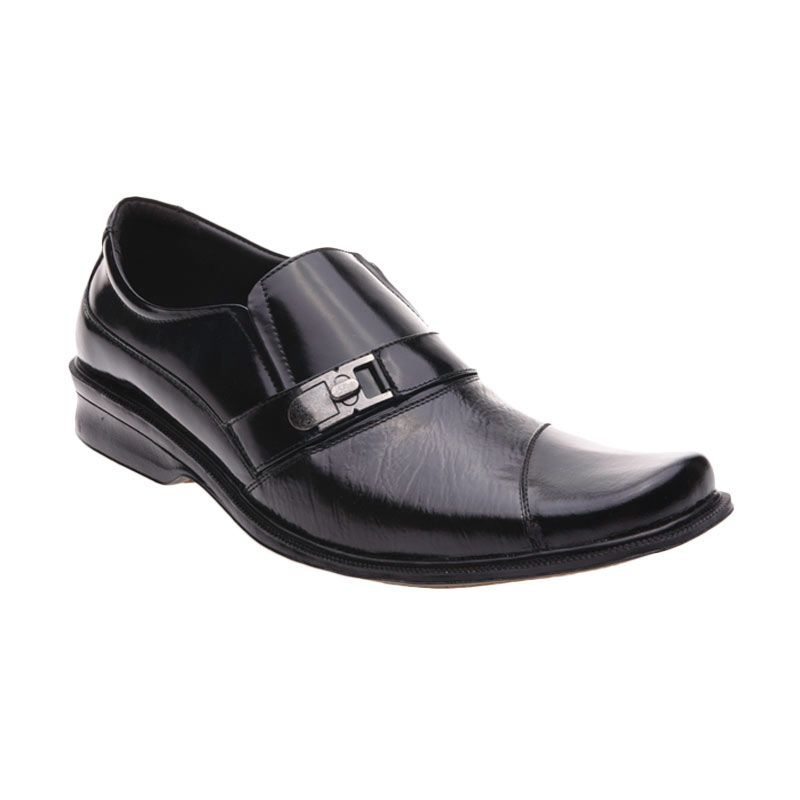 Handymen HK 814 Black Sepatu Formal Pria