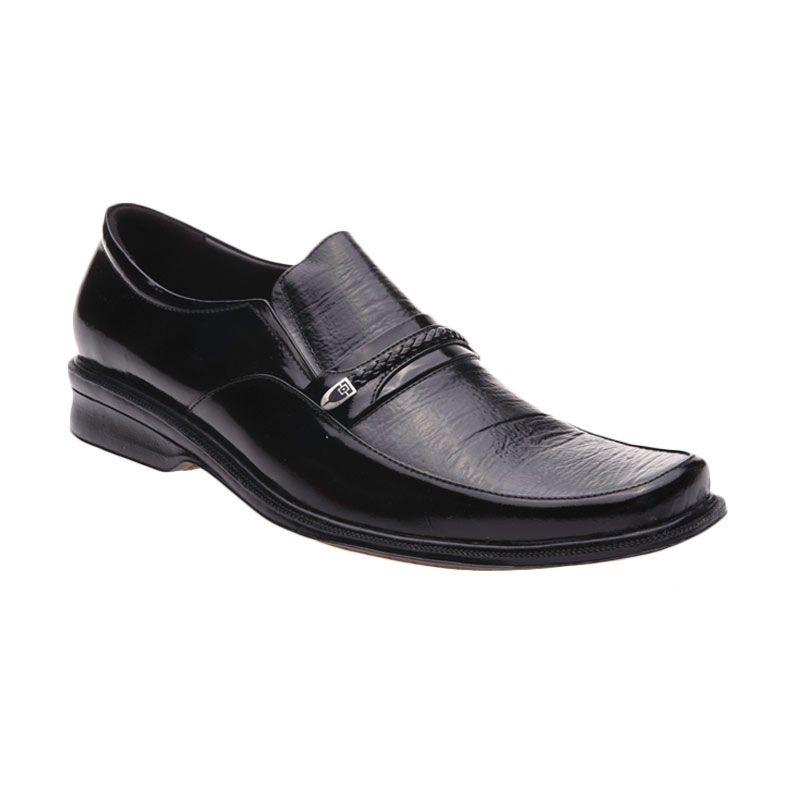 Handymen HK 816 Black Sepatu Formal Pria