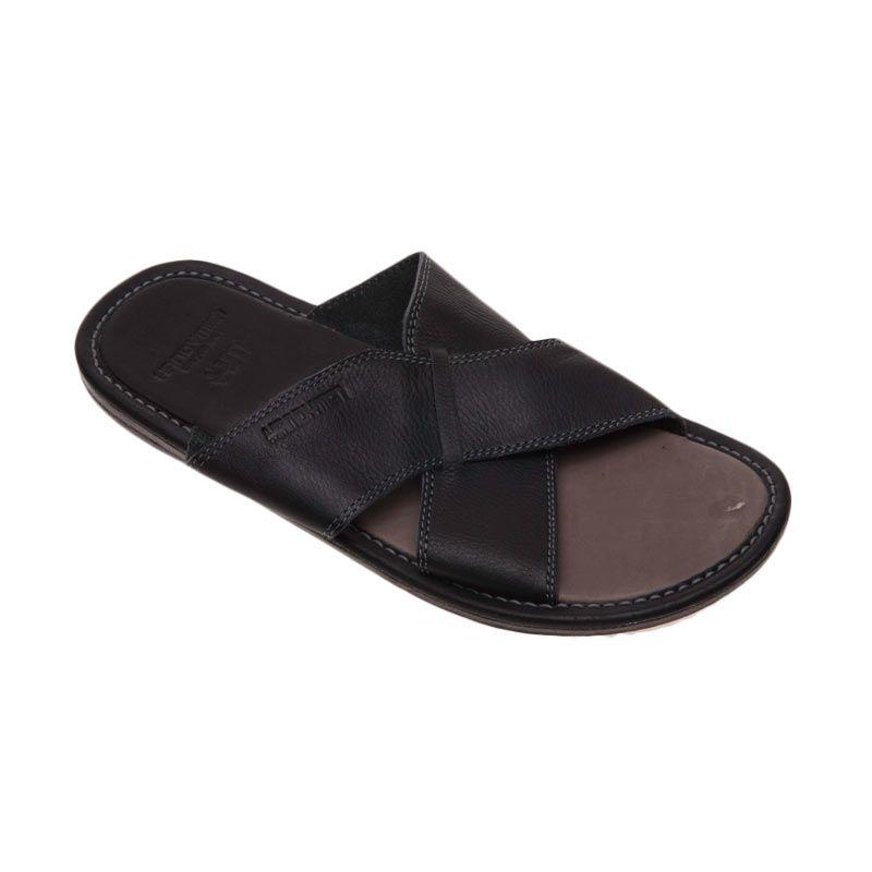 Handymen Hmt.01 Black Lightbrown Sandal Pria