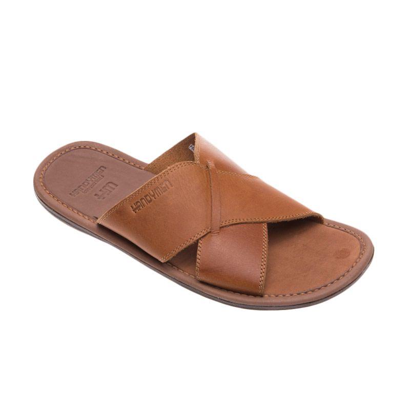 Handymen Hmt.01 Lightbrown Tan Sandal Pria
