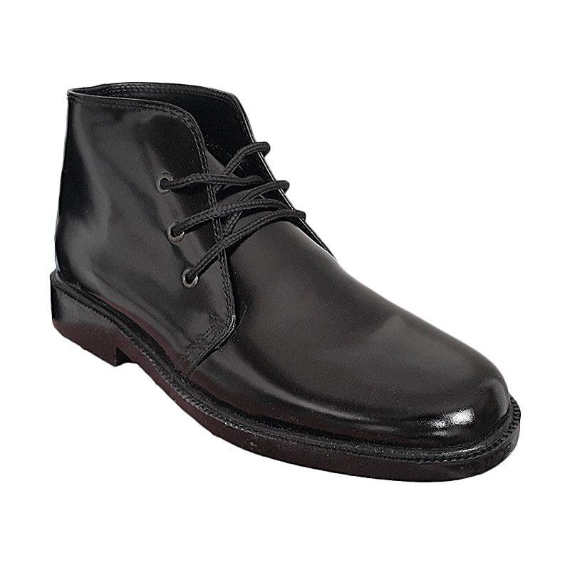 Handymen PDH Lak Black Sepatu Pria