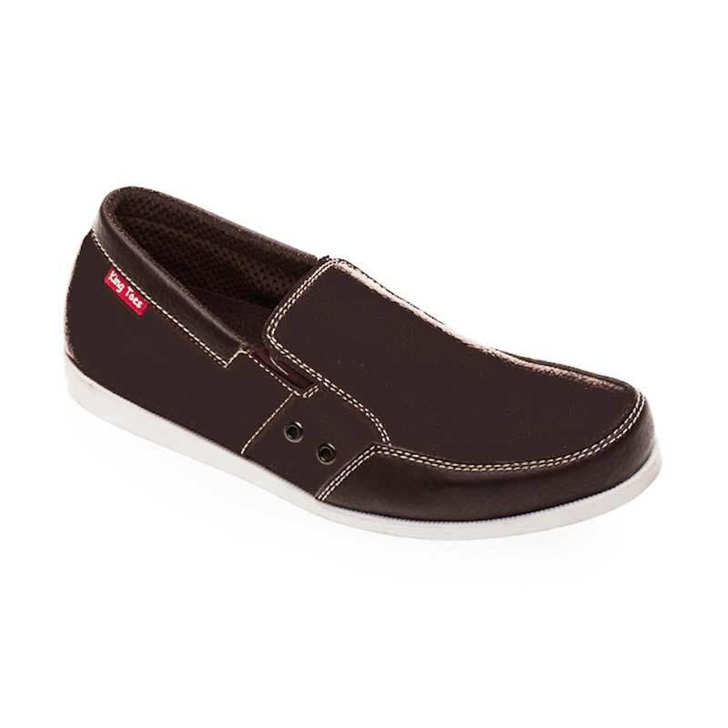 King Toes KT AN 04 Dark Brown Sepatu Pria