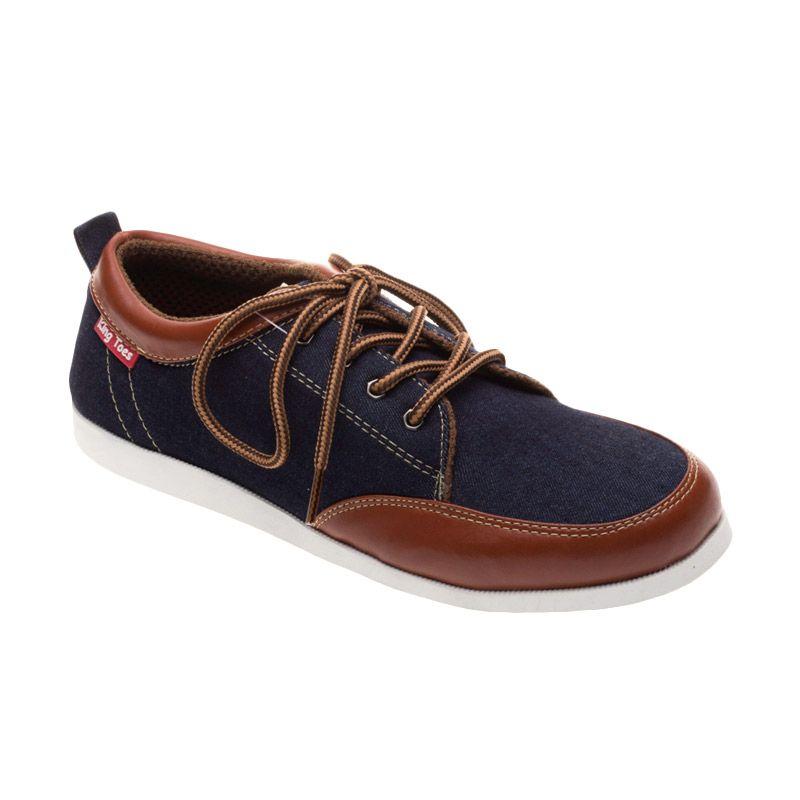 King toes KTA 03 Blue Tan Sepatu Pria