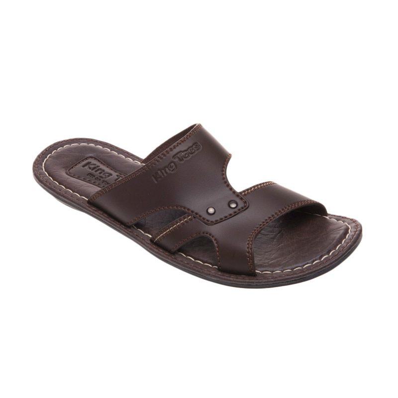 King Toes Mu 600 Brown Sandal Pria