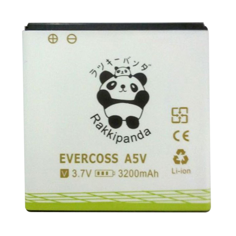 BATTERY BATERAI DOUBLE POWER DOUBLE IC RAKKIPANDA EVERCOSS CROSS A5V 3200mAh