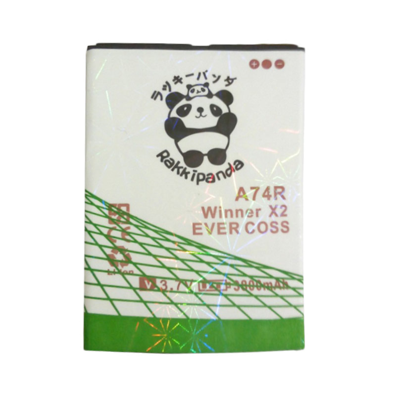 BATTERY BATERAI DOUBLE POWER DOUBLE IC RAKKIPANDA EVERCOSS CROSS A74R WINNER X2 3800mAh