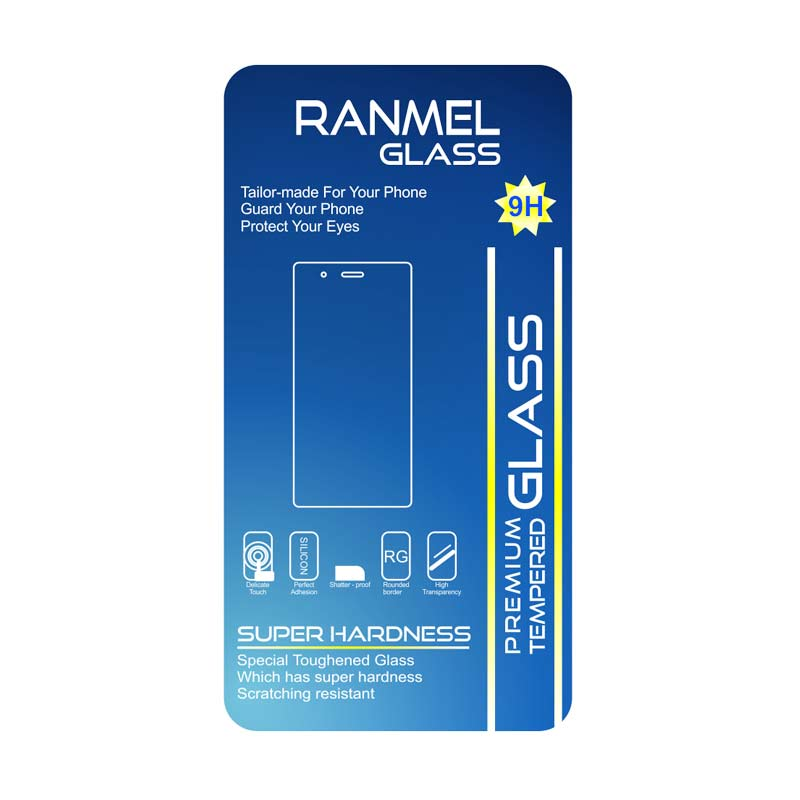 Ranmel Glass Tempered Glass Screen Protector Anti Gores for Vivo X3S