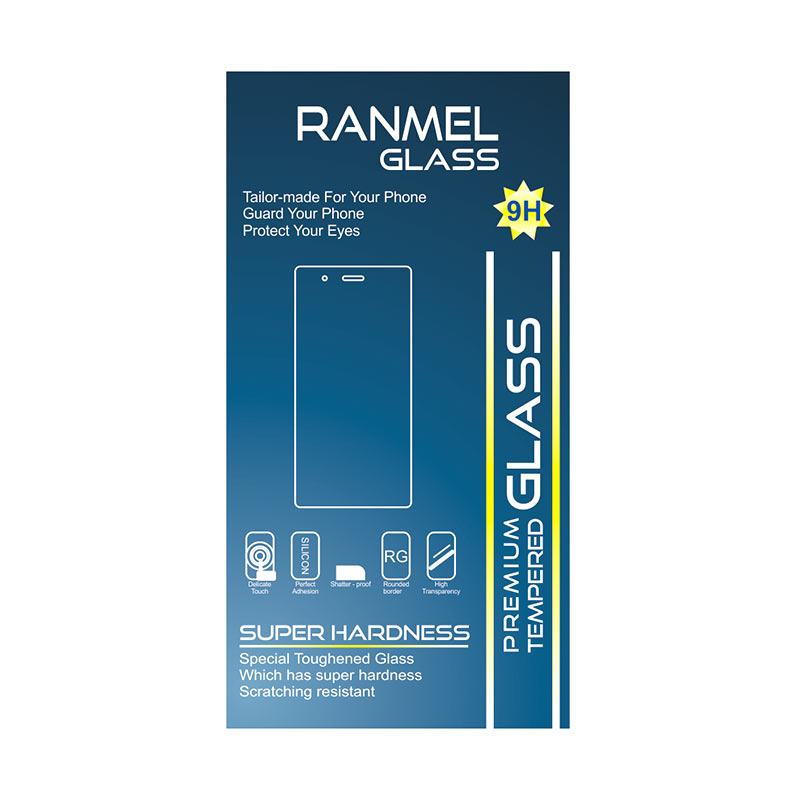 Ranmel Glass Anti Gores Tempered Glass Screen Protector for Samsung Galaxy A5 2016 [2.5D]