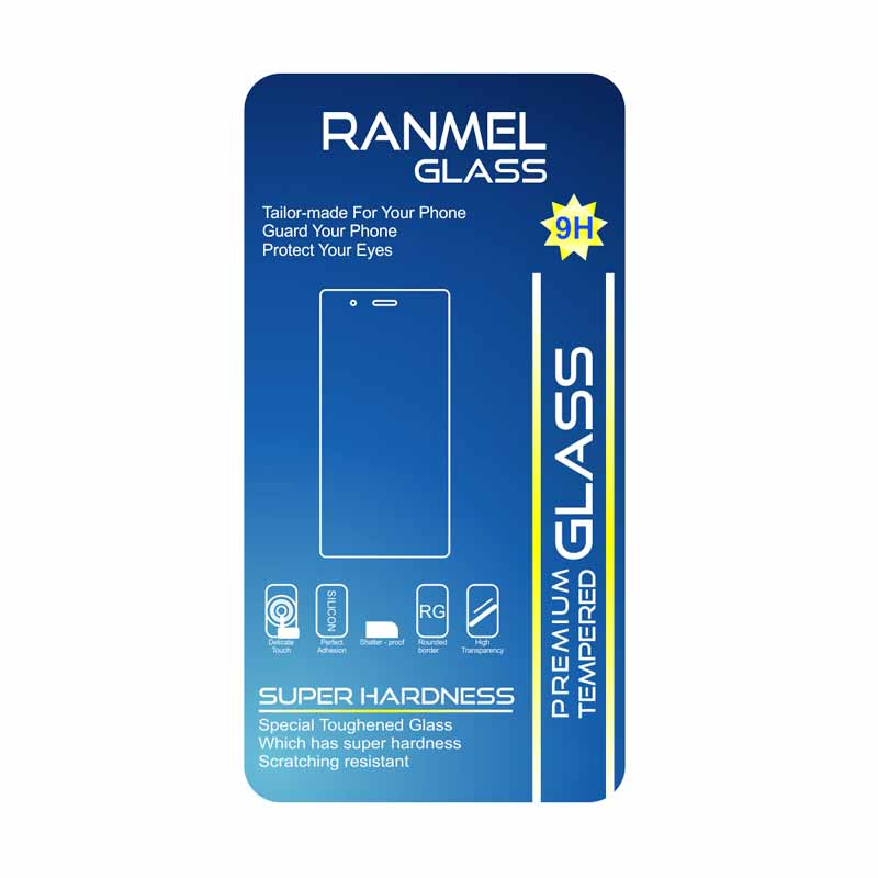 Ranmel Tempered Glass Screen Protector for Lenovo A7000 [2.5D]