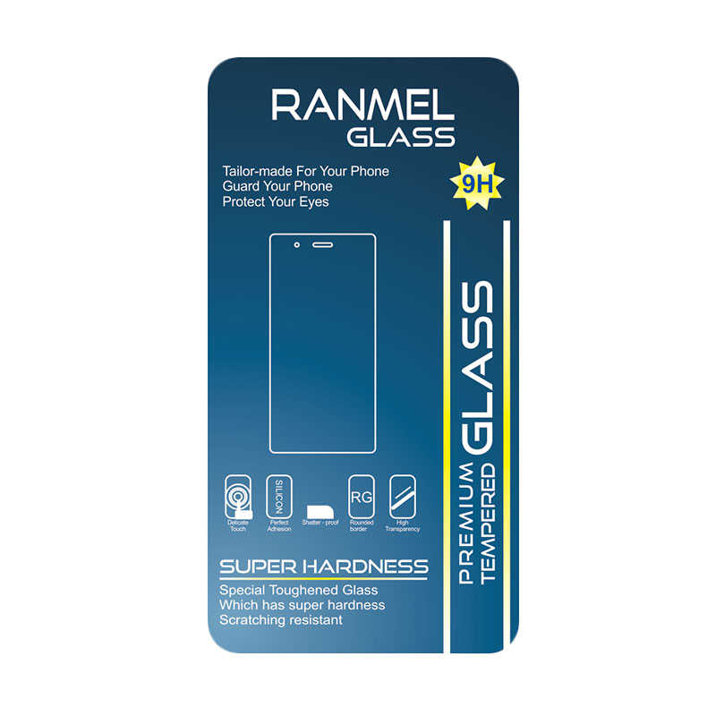 Ranmel Tempered Glass Screen Protector for Samsung Galaxy S4 Mini or 9082 [2.5D]