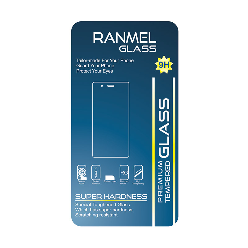Ranmel Tempered Glass Screen Protector for HTC ONE or M8