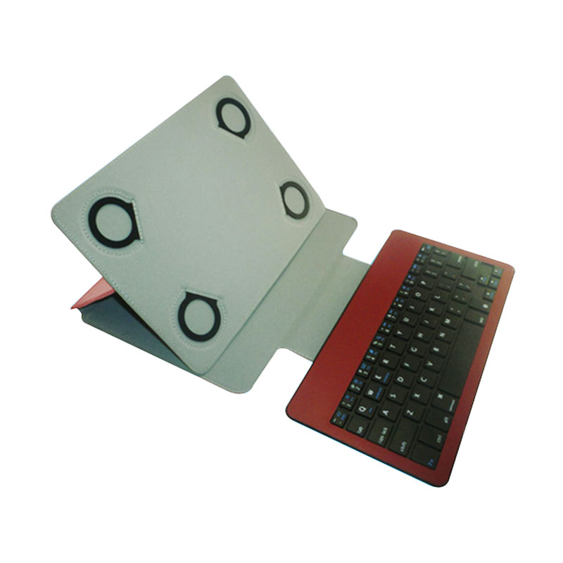 Rapid Bluetooth Keyboard with Casing for iPad - Merah