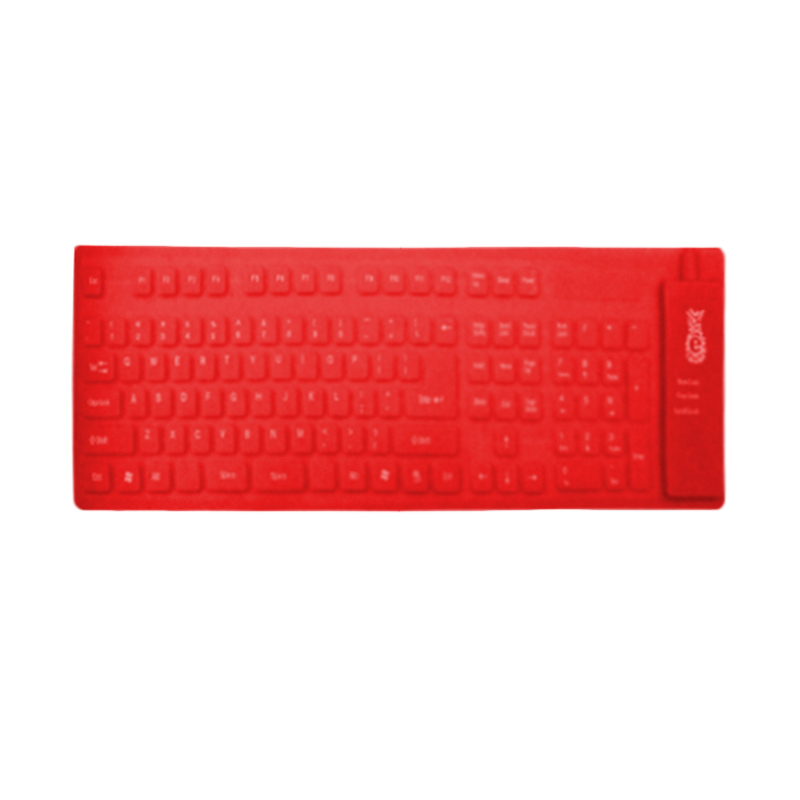 Rapid BR KB 109 Flexible USB Keyboard - Red
