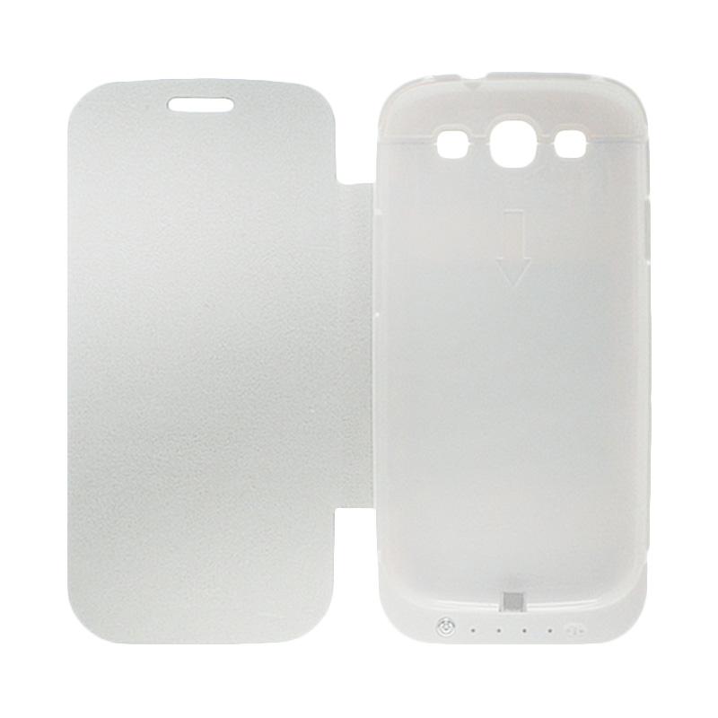 Rapid DF-202 Battery Case for Samsung S3 - Putih [Dengan Penutup]