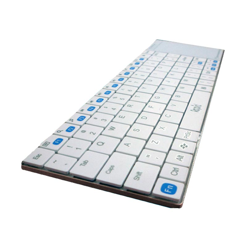 Rapid K708 Keyboard Wireless With Touch Mouse - White