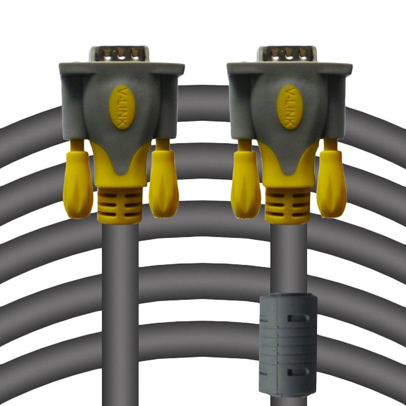 Rapid Vlink Male To Male Kabel VGA - Abu Abu [30M/3+6]