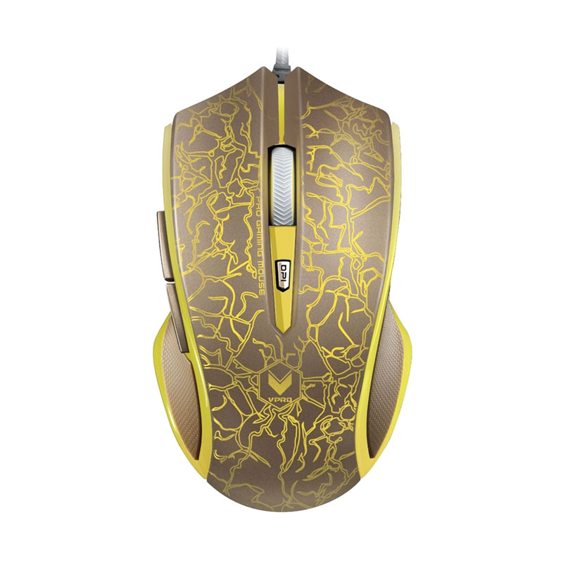 Rapoo V20 Lightning Gold Gaming Mouse