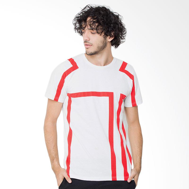 Rave Habbit Men Line Red T-Shirt Extra diskon 7% setiap hari Extra diskon 5% setiap hari
