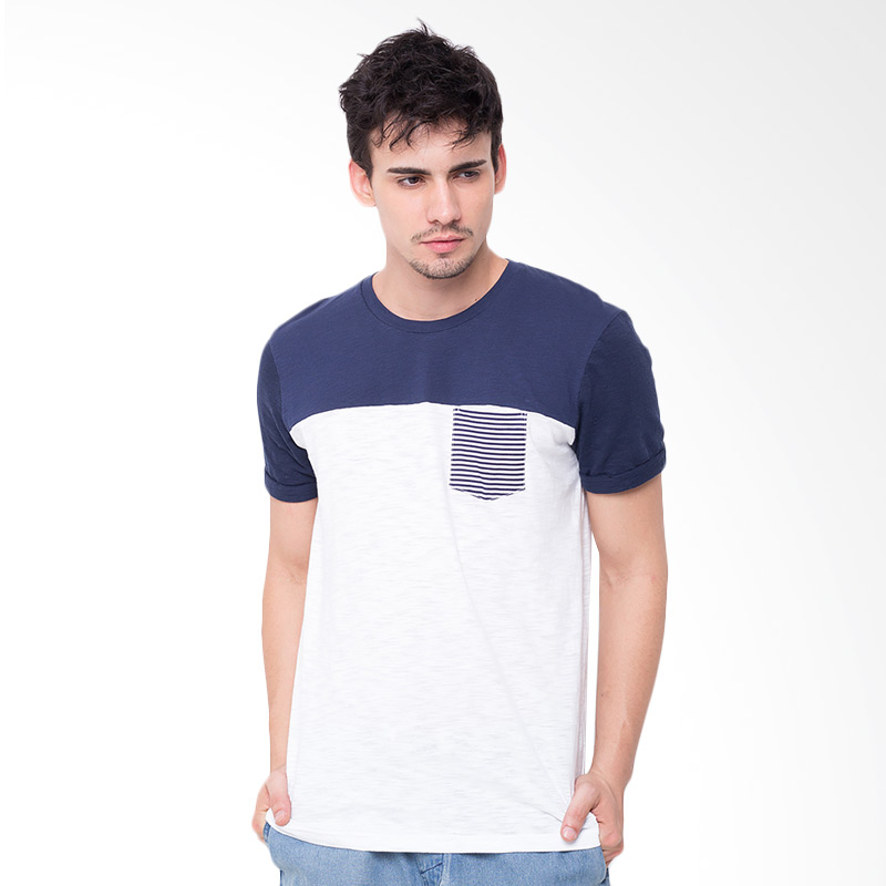 Rave Habbit Men Pocket Stripe Kaos Pria - White Navy Extra diskon 7% setiap hari Extra diskon 5% setiap hari Citibank – lebih hemat 10%