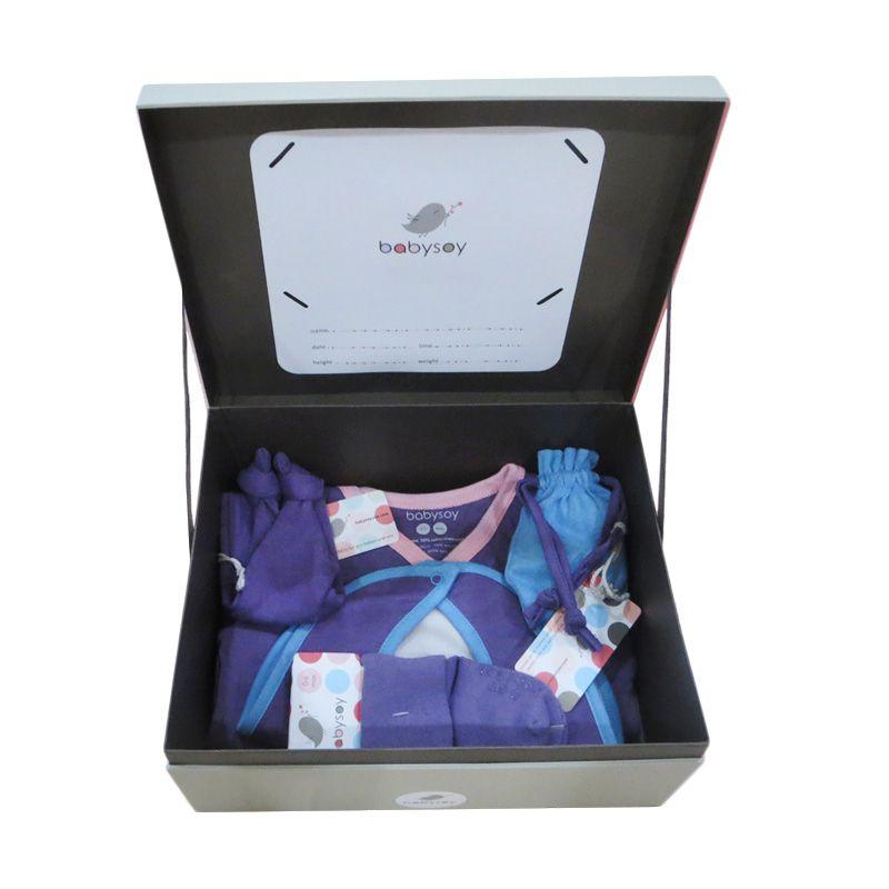 Babysoy Baby Shower Gift Pack Eggplant Setelan Baju Bayi