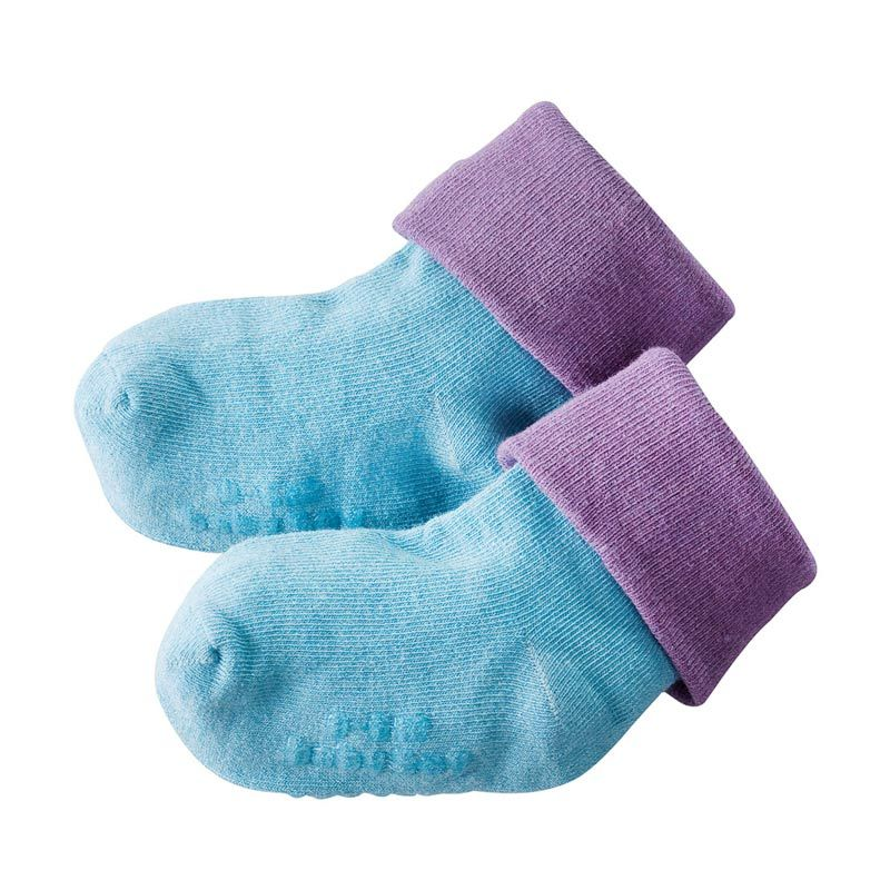 Babysoy Unisex 2-Tone Soft Socks Ocean
