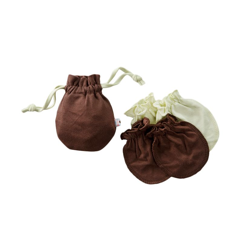 Babysoy Unisex Mitten Set Chocolate Sarung Tangan Bayi