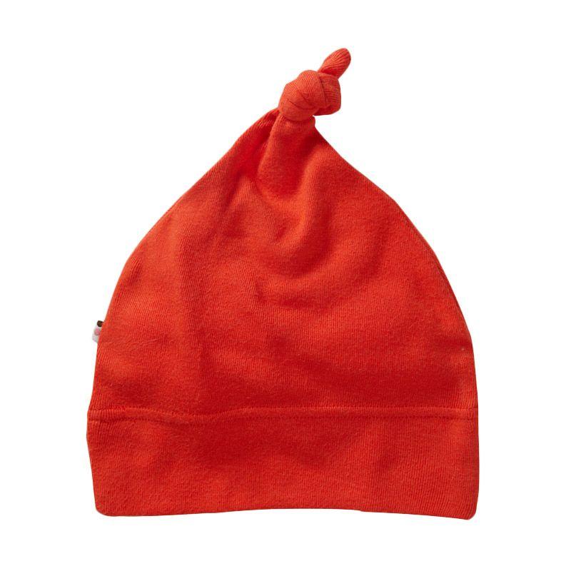Babysoy Unisex O Soy Knot Hat Tomato Topi Bayi