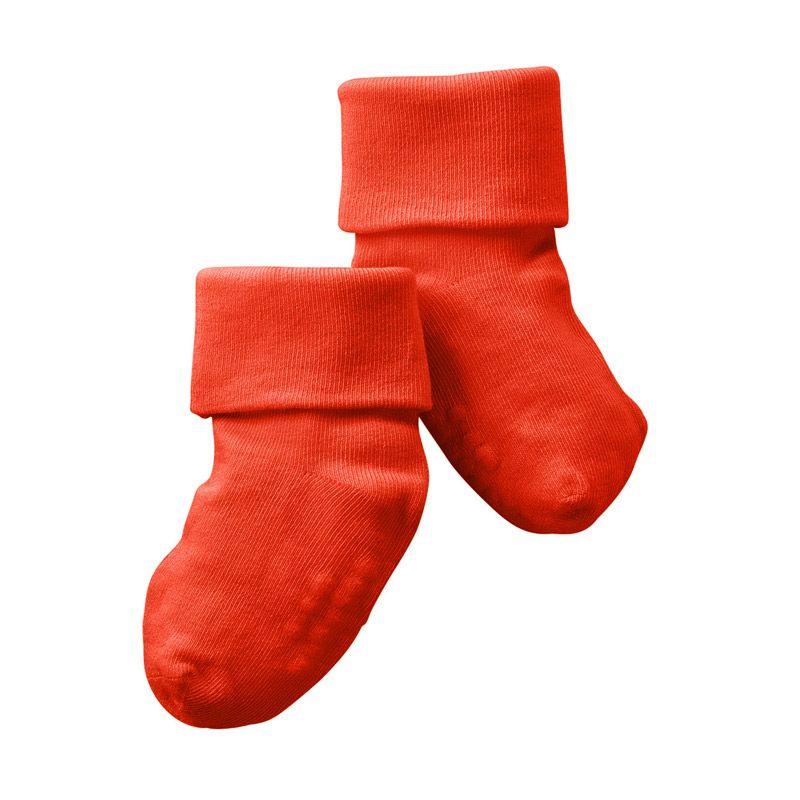 Babysoy Unisex O Soy Signature Sock Tomato