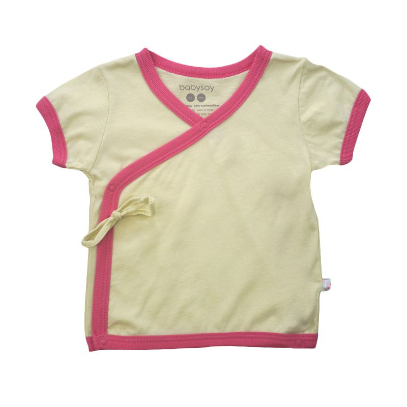 Babysoy Unisex Soy Soft Kimono Tee Petal
