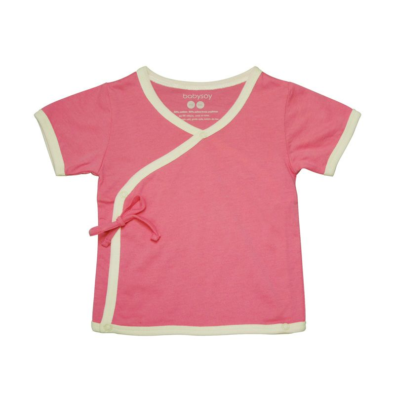 Babysoy Unisex Soy Soft Kimono Tee Pink Lemonade