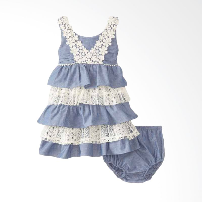 Bonnie Jean Tiered Chambray and Lace
