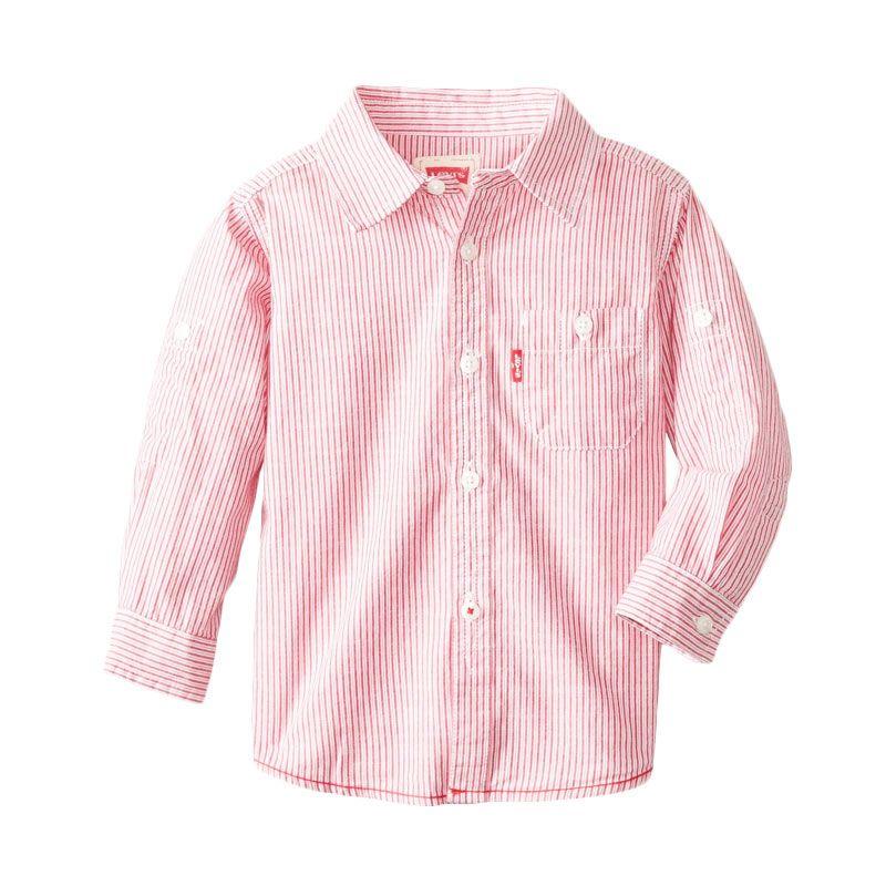 Levi's Baby Boys' My First One Pocket Pink Atasan Anak Laki-Laki