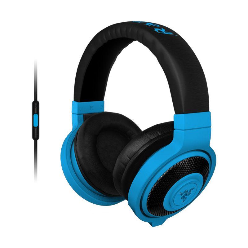 Razer Headset Kraken Mobile Neon Blue Headphone Gaming