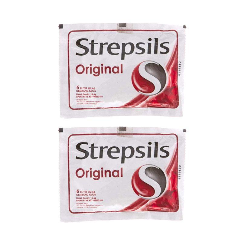 Strepsils Original Permen [2 Pcs x 6 Butir]