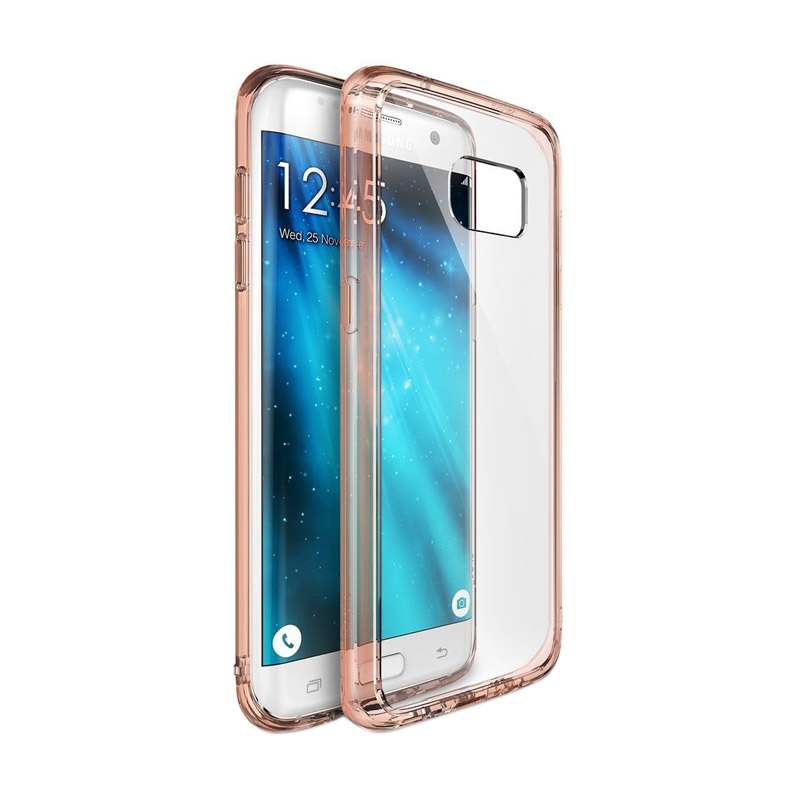 Rearth Ringke Fusion Casing for Galaxy S7 Edge - Rose Gold