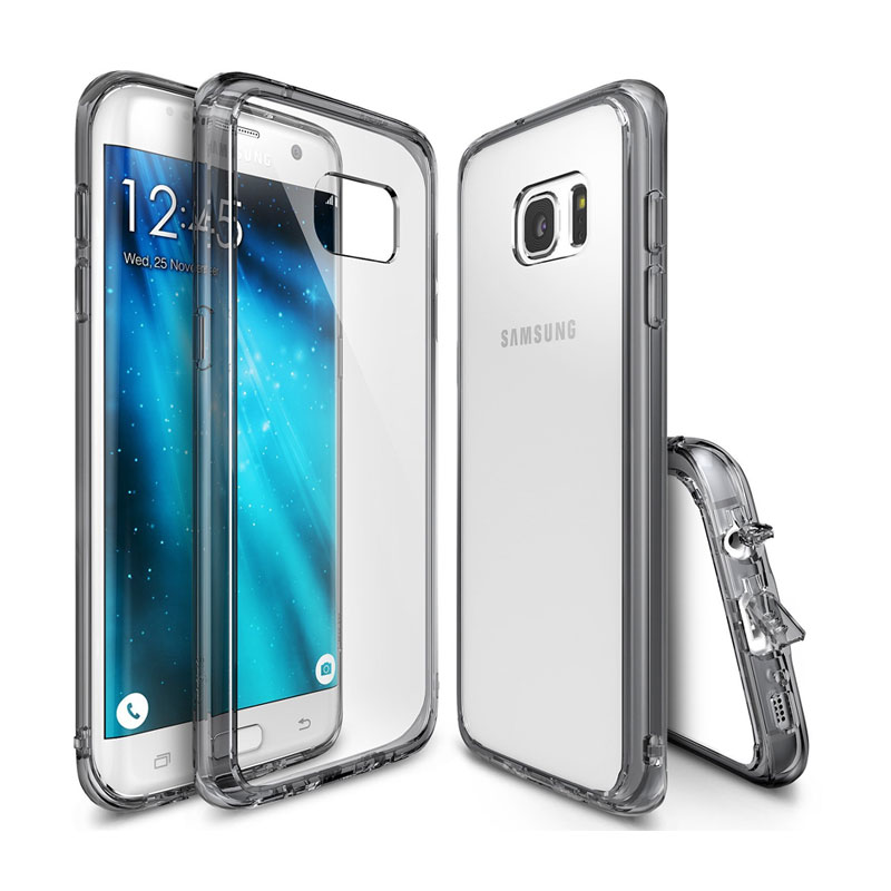 Rearth Ringke Fusion Casing for Samsung Galaxy S7 Edge - Smoke Black