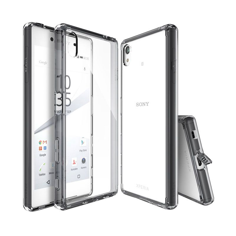 Rearth Ringke Fusion Smoke Black Casing for Sony Xperia Z5