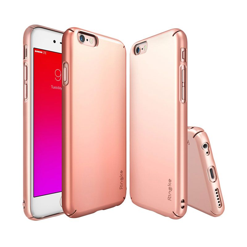 Rearth Ringke Slim Rose Gold Casing for iPhone 6S