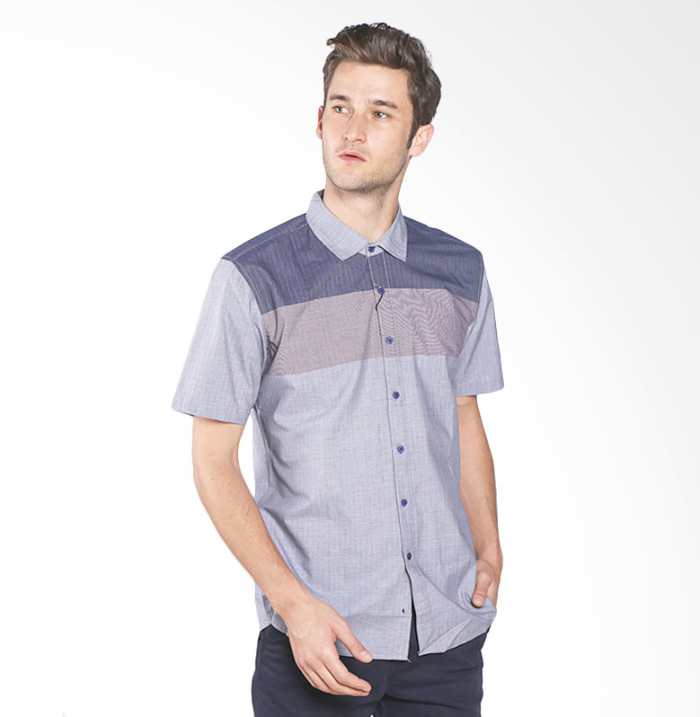 Red Cliff Smart Casual ZB1856JF Shirt - Grey Red Extra diskon 7% setiap hari Extra diskon 5% setiap hari