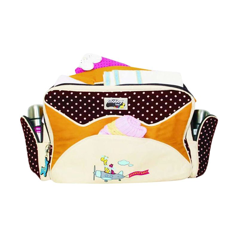 Snobby Awesome Dotty TPT 1471 Coklat Diaper Bag [Large]