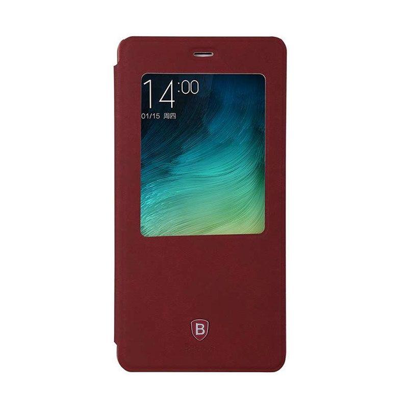 Baseus Terse Leather Merah Casing for Xiaomi Mi Note